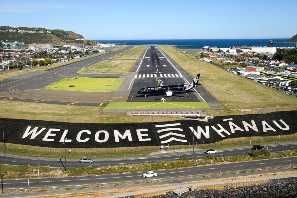 뉴질랜드 - 호주 격리 없는 여행 위한 첫 비행기 웰링턴 도착